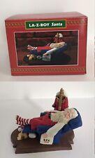 1994 La-Z-Boy Santa Chilling Sleeping on December 26 Christmas Decor New