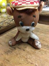 vtg Dakin Dream Pets,Golfer Dog ? Bear? IDK! w/ Checkerboard hat & Scarf