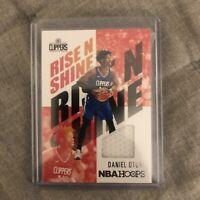 2020-21 Panini NBA Hoops Rise N Shine #RNS-DOT Daniel Oturu Rookie Jersey Patch