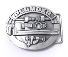 Plumber Belt Buckle 15005 new skilled trades crafts pewter belt buckles