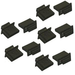 Lot 10pc HDMI Type A Dust Cover Port Protectors Anti-Dust Dirt HDMI Female Black