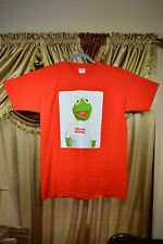 BRAND NEW SUPREME Kermit the frog Tee Kermit Photo T-shirt Red Size Large 08SS