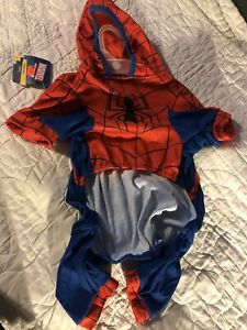 Marvel Spider Man  Costume For Dogs Size Large New