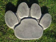 Paw print stepping stone  garden ornament
