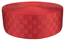 3 Inch Red Checkerboard Heavy Nylon Webbing Closeout, 50 Yards