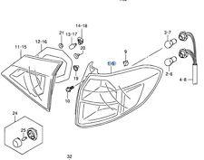 Newgenuine suzuki vitara arrière extérieur feu arrière lampe unité côté conducteur 35650-54P00