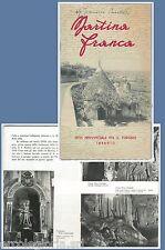 640401 - DEPLIANT TURISTICO d'Epoca - ANNI '30/'50 - MARTINA FRANCA Taranto