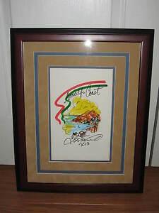 CHARLES FAZZINO Amalfi Coast ITALY Hand Pop Art ONE OF KIND RARE 17x21 FRAMED
