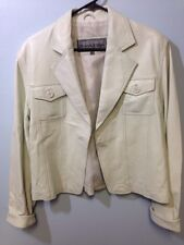 Monroe & Main Size Xl Leather Coat Off White