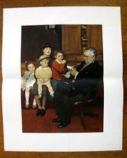 1950s Norman Rockwell Print Doctor Treats Child Upjohn Series