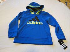 Boys youth 5 adidas AA5489 AB20 BM bright blue 439 jacket pull over coat hoodie