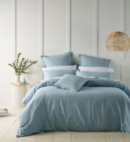Bianca Wellington Quilt Cover Set Soft Blue