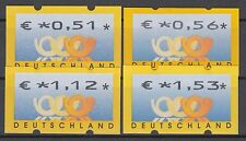 Bund ATM 4.1 PS 1 ** 2002 Postemblem Portosatz 4 Werte  postfrisch