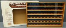 Vtg Golf Ball Collectors Cabinet Wood Shadow Box - 6411C Light Maple Stain New