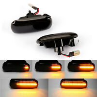 2x LED Smoked Dynamic Sequential Side Indicator Light For Audi A3 S3 8P A4 S4 A6