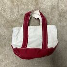 Vintage LL Bean Canvas Boat & Tote Bag Canvas Small RED