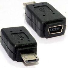 Adaptador USB 2.0 mini USB hembra a micro USB macho  Negro