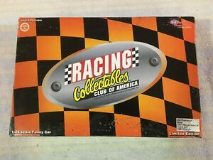 """DON """"THE SNAKE"""" PRUDHOMME, 1/24 DIE CAST RCCA ACTION 1975 MONZA FUNNY CAR ARMY"""