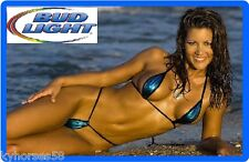 Bud Light Beer Sexy Babe On Beach Refrigerator Toolbox Magnet