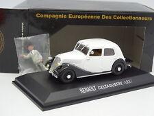 Norev CEC 1/43 - Renault Celtaquatre 1937 Grise + Figurine