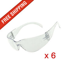 6 x Clear Safety Glasses Eye Protection Cobra, Texas and Force