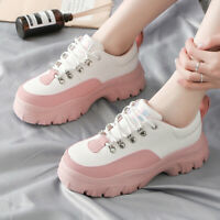 Women's Fashion Shoes Breathable Multcolor  Lace Up Gidden Chunky Casual