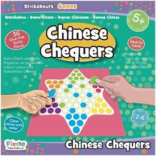 Fiesta Crafts STICKABOUTS GAME - CHINESE CHECKERS Reusable Sticker Toy BNIP