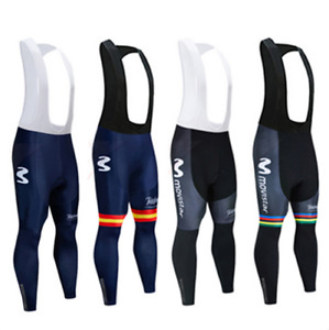 Mens Long Bike Cycling Tights Bib Pants Sportswear Breathable Bicycle Trousers