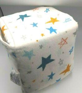 Pillowfort Blue & Gold Stars Flannel Sheet Set, Queen Bed Sheets