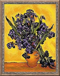 2Counted Cross Stitch Kit RIOLIS - IRISES after Van Gogh's painting