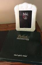 "Belleek 'Claddagh' 5"" x 7"" Frame in Ivory #2418 New w/ Box Fine Parian China"