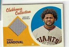 PABLO SANDOVAL 2012 TOPPS HERITAGE CLUBHOUSE COLLECTION GAME USED JERSEY