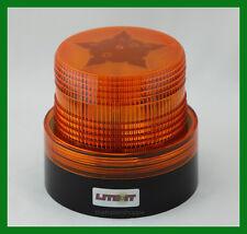 Battery Operated Amber LED Beacon Safety Flashing Light Warning Magnetic Mount
