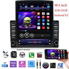 "1DIN Rotatable 10.1"" Android 9.1 HD Quad-core 2GB+32GB Car Stereo FM GPS Nav"