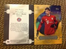 Thomas Muller Best of the Best #ed/10 made 2016 Topps UEFA Champions 5X7 GOLD