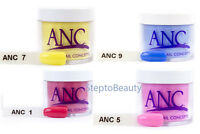 ANC Dipping Powder 1oz, dip powder nail ALL COLORS for Manicure Pedicure