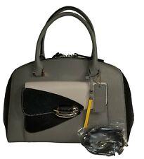 fbce2fe0634f Cromia Italian Domed Leather Color Blocked Satchel Shoulder Bag - NWT