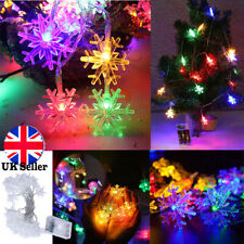 Snowflake RGB LED String Fairy Lights Battery Christmas Wedding Party Decoration