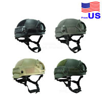 Airsoft Tactical Hunting MICH 2002 Combat Helmet with Side Rail & NVG Mount USA