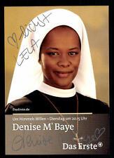 Denise M`Baye Um Himmels Willen Autogrammkarte Original Signiert TOP ## BC 177
