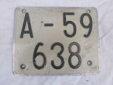 SPAIN ALICANTE LAMBRETTA VESPA MOPED MOTORCYCLE 1970s # A-59638 LICENSE PLATE