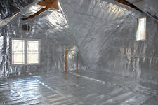 1000 sqft LOW-E Reflective Foam Core 1/4 inch Insulation Housewrap Barrier Solid