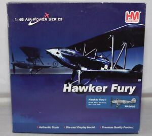 HOBBY MASTER HA8002 HAWKER FURY MK1 SAAF 2 SQD '206' OCTOBER 1940 1:48 SCALE