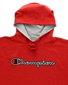 Champion Men's Big & Tall Hoodie Sweatshirt Pullover Embroidery Script Logo