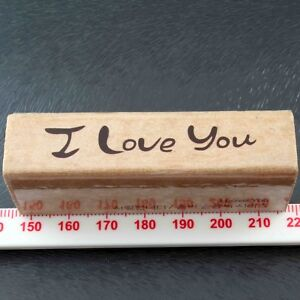 Romantic I Love You Rubber Stamp