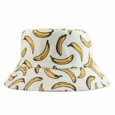 Unisex Reversible Cotton Bucket Rain Hat - Bananas