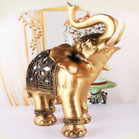 Home Decor Elephant Figure Ornament Statue FengShui Sculpture Display Decor