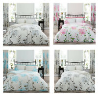 LUXURIOUS CAMILA FLORAL PATTERN MODERN STYLE DUVET COVER REVERSIBLE BEDDING SET