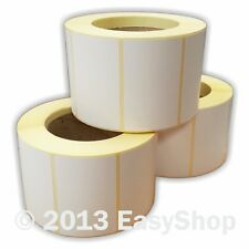 More details for 76mm x 50mm white thermal direct zebra printer labels 500 per roll 25mm core