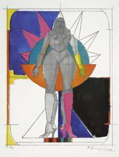 RICHARD LINDNER  - o.T. ( Starwoman ) Lithographie signiert nummeriert 1971